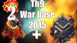 Clash of clans - Best war base TH9 with 2 Air Sweepers  Anti 2 star + REPLAY