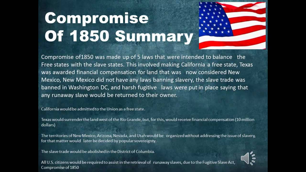 essays on compromise of 1850