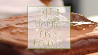 Organic Salted Caramel Frosted Brownies