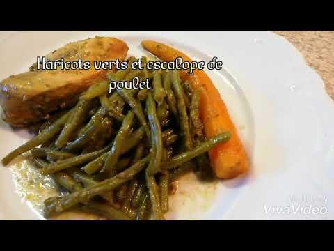 recette-simple-haricots-verts-et-escalope-de-poulet