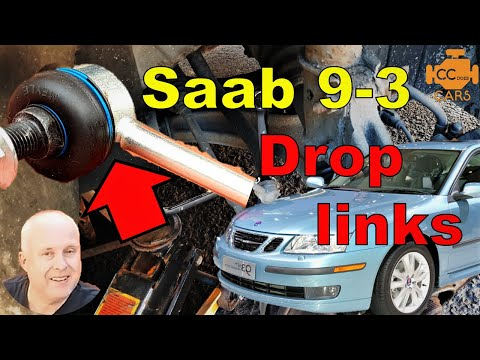 Saab 9-3 Front Drop Link Replacement   So Easy It's Childs Play