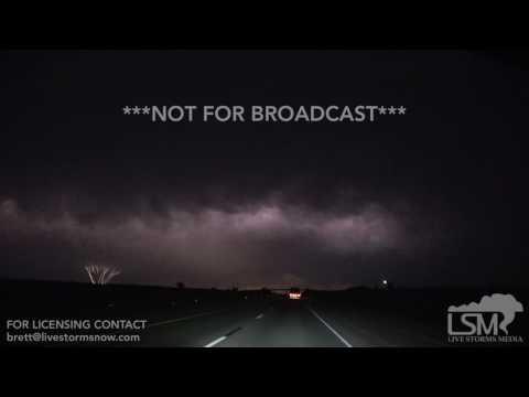 5 18 17 Oklahoma City, OK Rare Slow Motion Upward Lightning