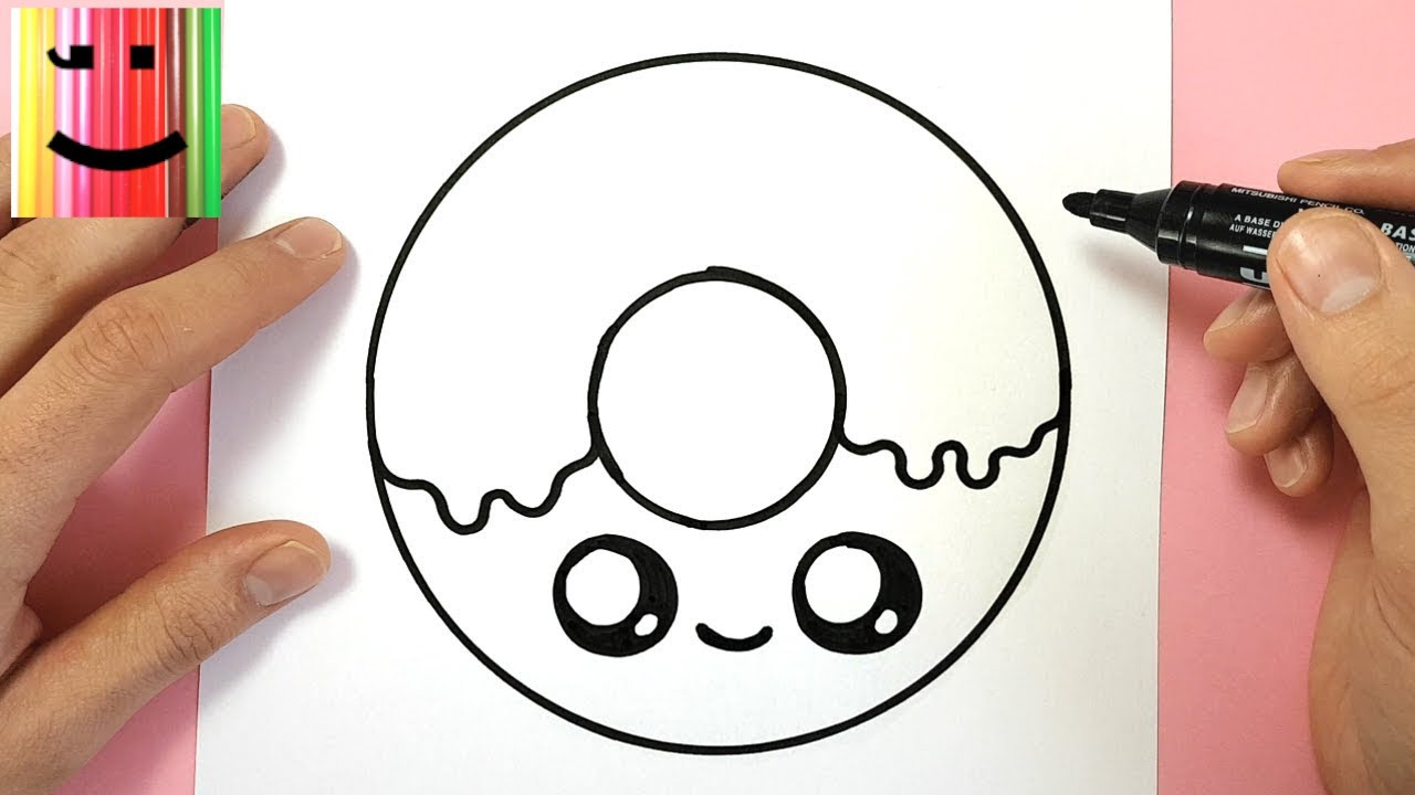 Tuto Dessin Comment Dessiner Un Donut Kawaii Simplement Youtube
