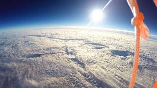 NEAR SPACE Balloon Flight shot with HD HERO cameras from GoPro