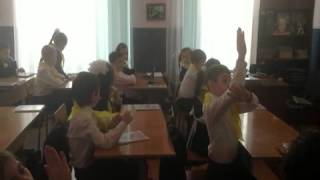 Тлатова О.Р. Фрагмент видеоурока по русскому языку, в класс. Система Занкова