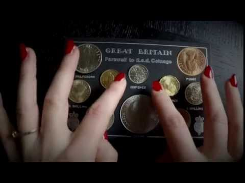 ASMR Show and Tell Old British Coins - Whisper/Soft Spoken
