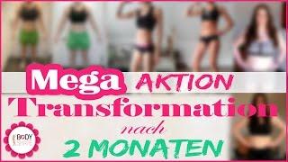 Transformation nach 2 Monaten Fitnessprogramm - Magersucht erfolgreich bekämpfen - Binge Eating