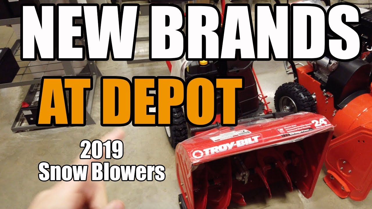 Home Depot Snow Blowers For 2019