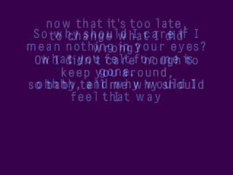 Why Should I Care~Sara Evans~Lyrics