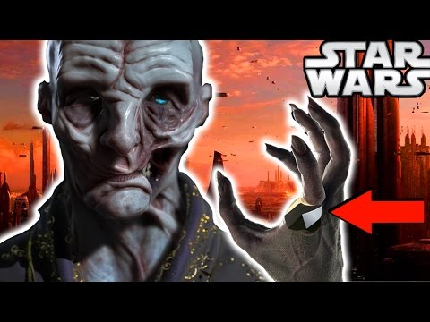 Star Wars Episode 8 The Last Jedi Snoke's NEW Look Revealed and Explained!
