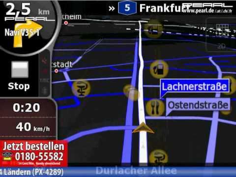 PEARL Navigationssystem V35-1 mit Deutschland-Karte