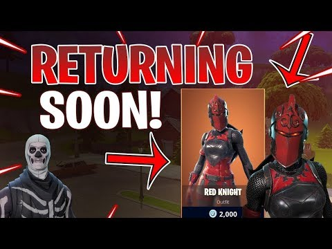 🔴 *NEW* RED KNIGHT WILL RETURN!?  (Red Knight Skin)  Fortnite Battle Royale