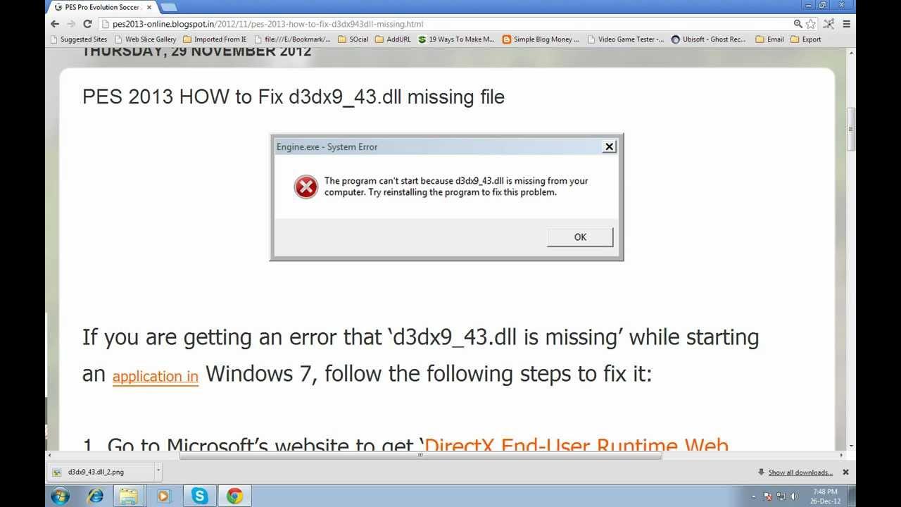 Скачать файл d3dx9 43 dll через торрент
