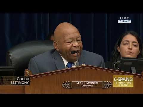 Chairman Cummings Opening Statement Cohen Testimony