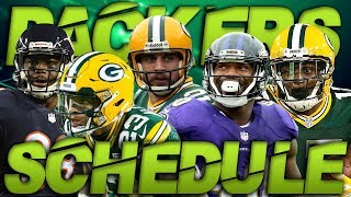 The Green Bay Packers Regular Season Schedule Released! Predicting The Packers Record!