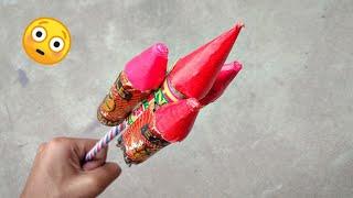 Diwali rocket vs rocket    Experiment