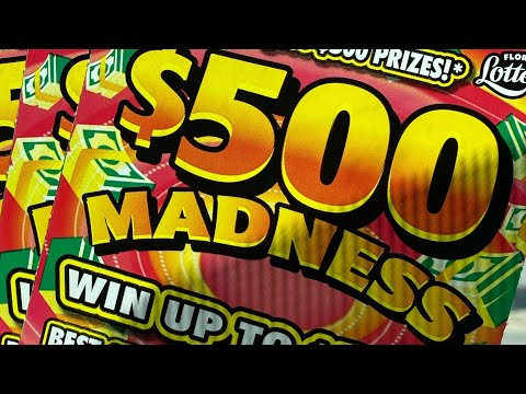 Florida Lottery: (2) $10 $500 Madness Tickets