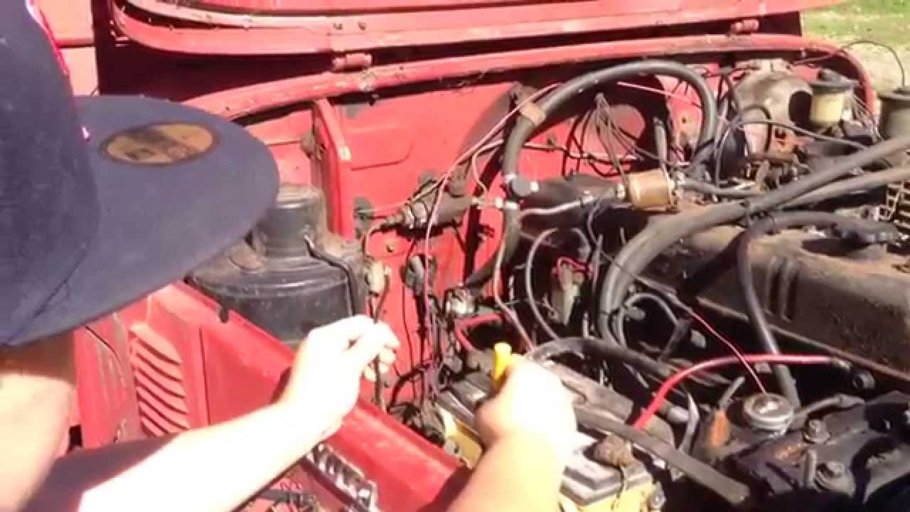 medium resolution of tank ii 5 bypassing the rats nest of wires and starting the fj40 after six years of sitting