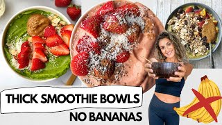 THICK + CREAMY LOW SUGAR SMOOTHIE BOWLS WITHOUT BANANA | LOW SUGAR NICE CREAM USING VEGETABLES