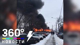 Пожар на мебельной фабрике в Щёлкове