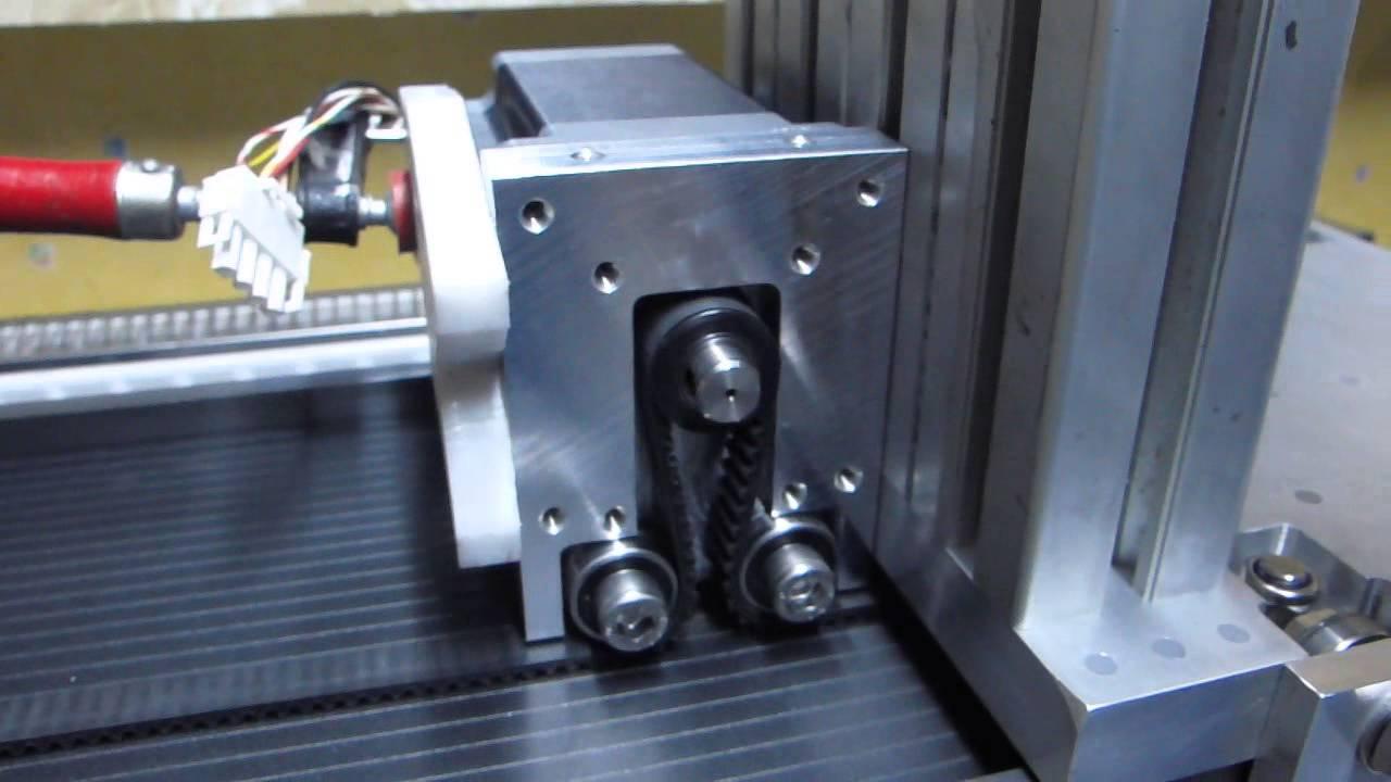 Diy Omegadrive Belt Drive Works Htd M5 Nema 34 Youtube