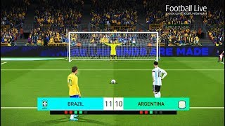 PES 2018 | BRAZIL vs ARGENTINA | Penalty Shootout | NEYMAR vs MESSI thumbnail