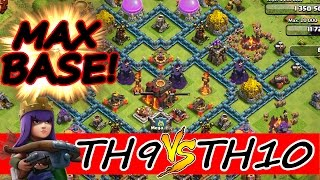 "Clash Of Clans | TH9 vs MAX TH10 BASE! | ""HOW TO BEAT A MAX TH10 BASE AT TH9!"""