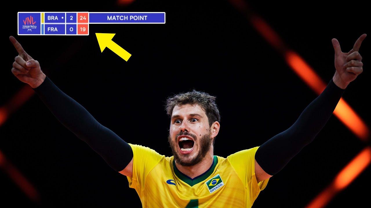 Download DRAMATIC Volleyball Match | Brazil vs France | Semifinal | Men's VNL 2021