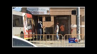 Inspectors back at scene of Little Haiti bus crash 3 days after it got stuck in building