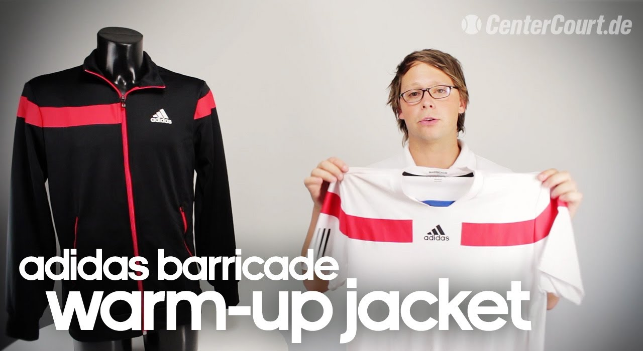 Tenis Adidas Barricade warm up jacket YouTube