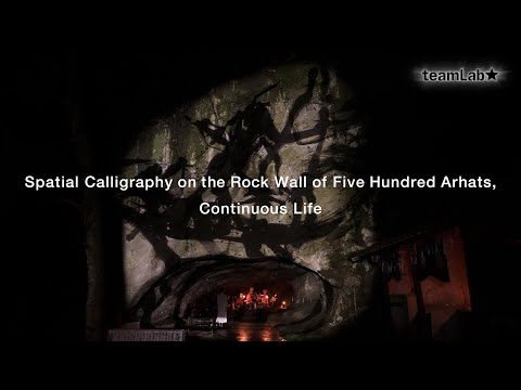 Spatial Calligraphy on the Rock Wall of Five Hundred Arhats, Continuous Life