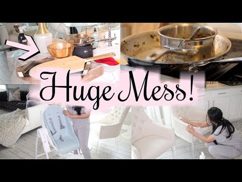 HUGE MESS Clean With Me! Cleaning Motivation!  MissLizHeart