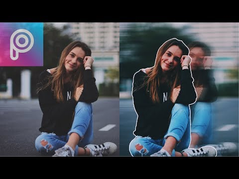How To Create A Cool Motion Blur Effect With Picsart App.  In 2 Minutes.