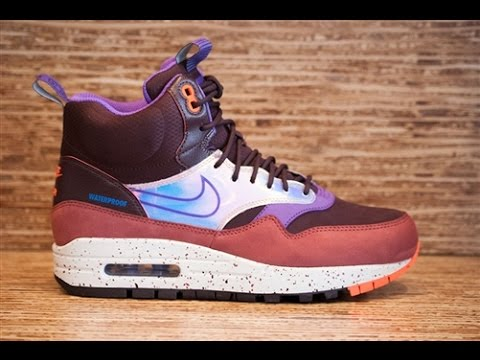 c157dd67c8 WMNS Nike Air Max 1 Mid Sneakerboot WP - full review - YouTube