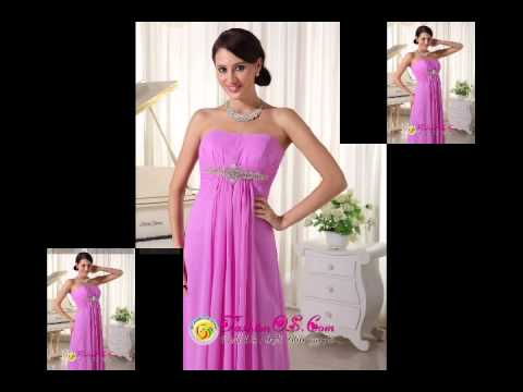Lavender Beaded Chiffon Empire Prom Dress For New Arrival Floorlength
