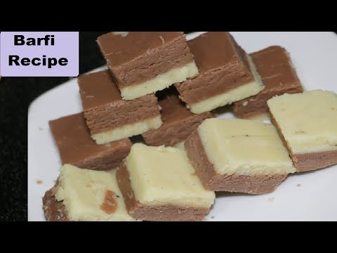 Barfi In 10 Minutes | Double Layer Milk Powder Barfi | Barfi Recipe | Instant Sweet Recipe