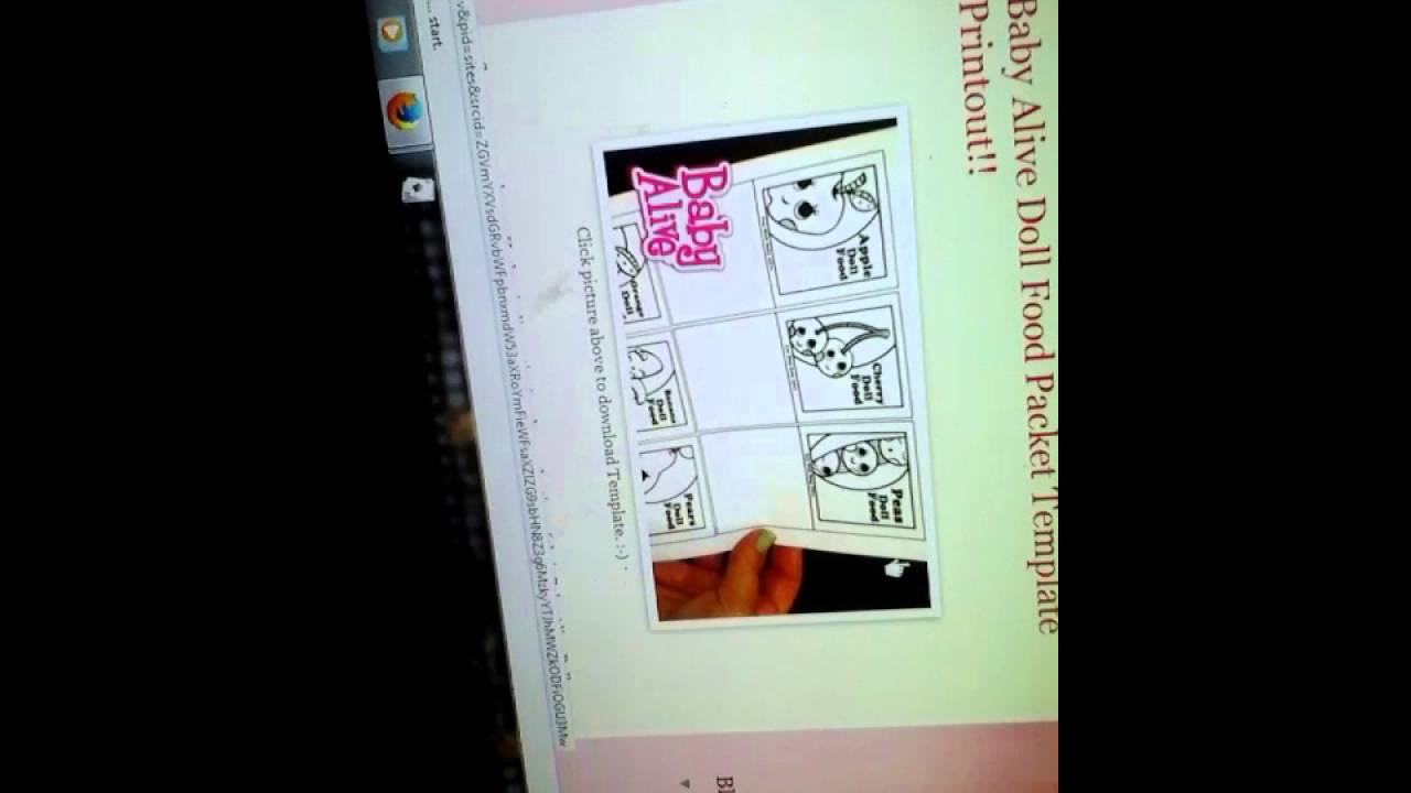 Templates Food Packets On Fun With Baby Alive Blog Youtube