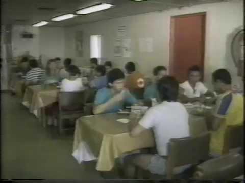 PLATAFORMA DE ENCHOVA EM 1985