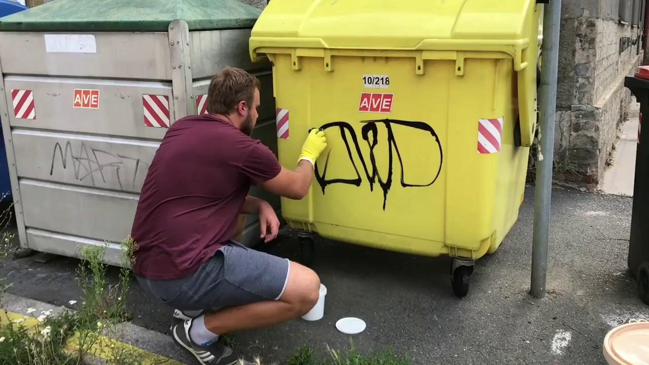 Удаление граффити с кирпичной стены - YouTube
