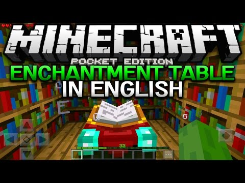 ENGLISH ENCHANTMENT TABLE IN 0.16.0! - MCPE Translated Enchantments - Minecraft Pocket Edition