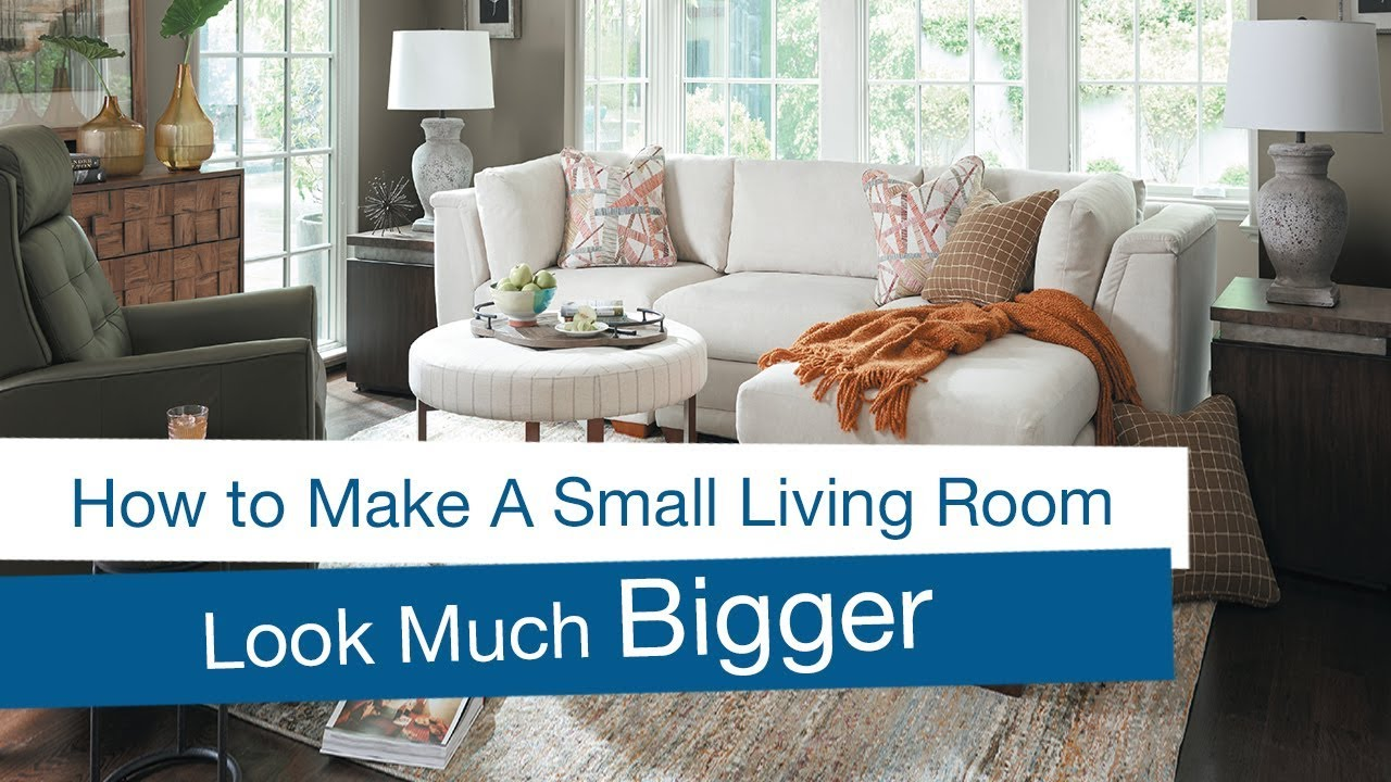How To Make A Small Living Room Look Bigger Youtube