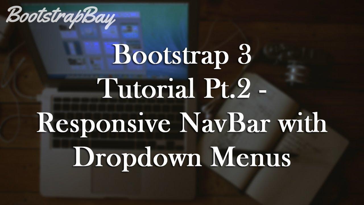 Bootstrap Tutorial - Creating a Responsive Navbar (Video