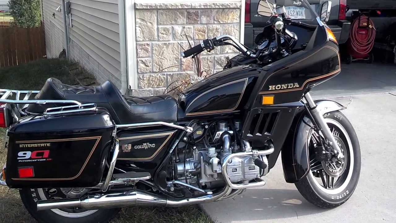 1982 Honda Goldwing Police Interstate - YouTube