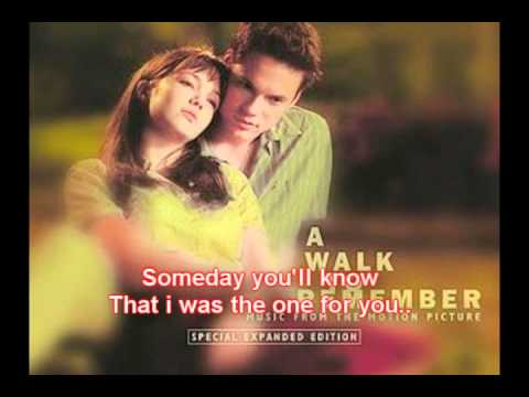 A Walk To Remember Movie Song Lyrics