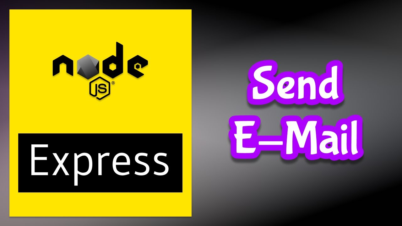 Send e-mail with Nodemailer in Express