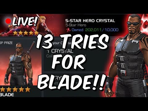 13x Five Star Featured Blade Crystal Opening LIVE - Blade Day 2018 - Marvel Contest Of Champions
