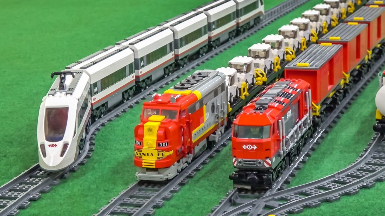 MEGA LEGO train Action and Crash compilation! - YouTube