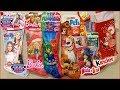 Apriamo le calze della BEFANA Maggie e Bianca PjMasks Barbie Masha e Orso Pets Cuccioli Emoji Kinder