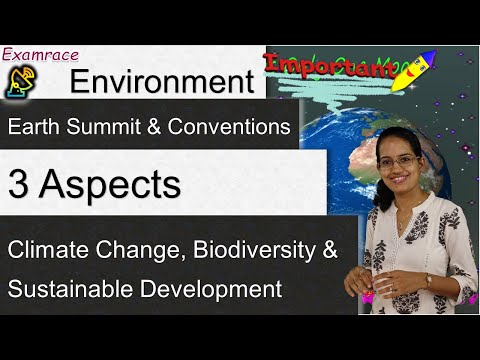 Earth Summit & Conventions: 3 Aspects - Climate Change, Biodiversity & Sustainable Development