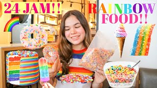 #24JAM makan yang WARNA WARNI doang!! Eating only rainbow food for 24 hours!! | Sasa Nielsen